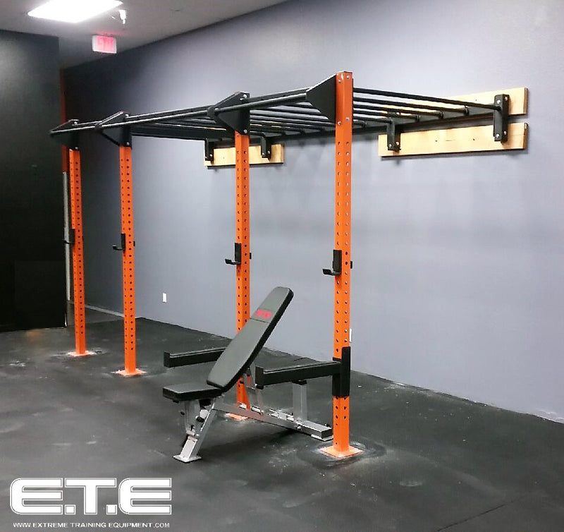 14ft Wall Mounted Monkey Bar Rig