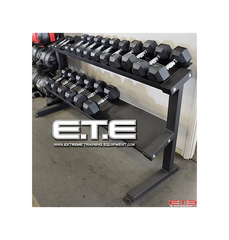 2 Tier Tray Dumbbell Rack