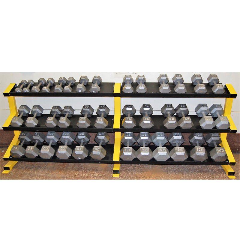 3 Tier Tray Dumbbell Rack 5-100 set