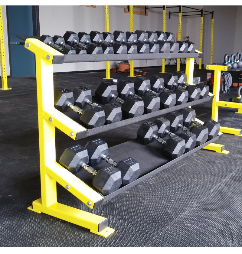 3 Tier Tray Dumbbell Rack 5-75 set