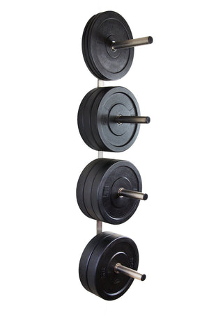 Chrome Wall Mounted Bumper Plate Storage