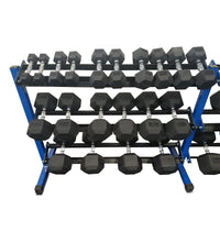5-50 rubber dumbbell set