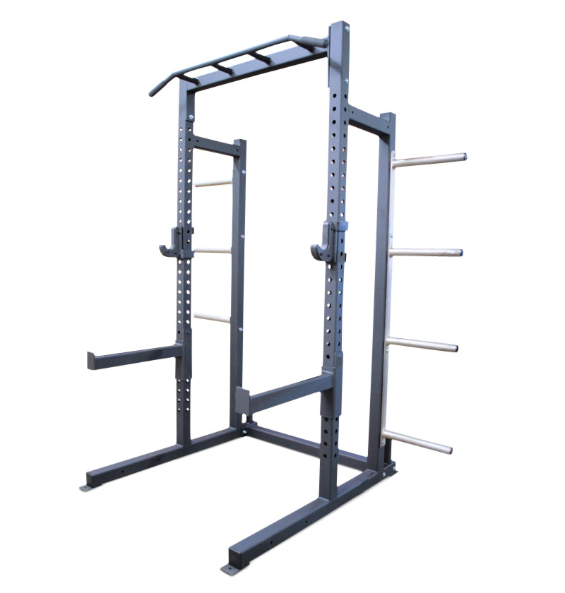 ETE PRO Half Rack with Bumper Plate Holders