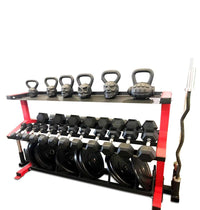 Kettlebell Dumbbell Plate Storage Rack