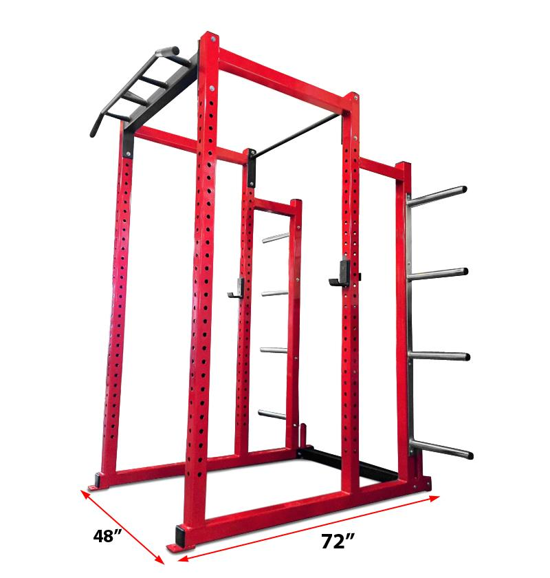 Power Rack with Bumper Plate Storage