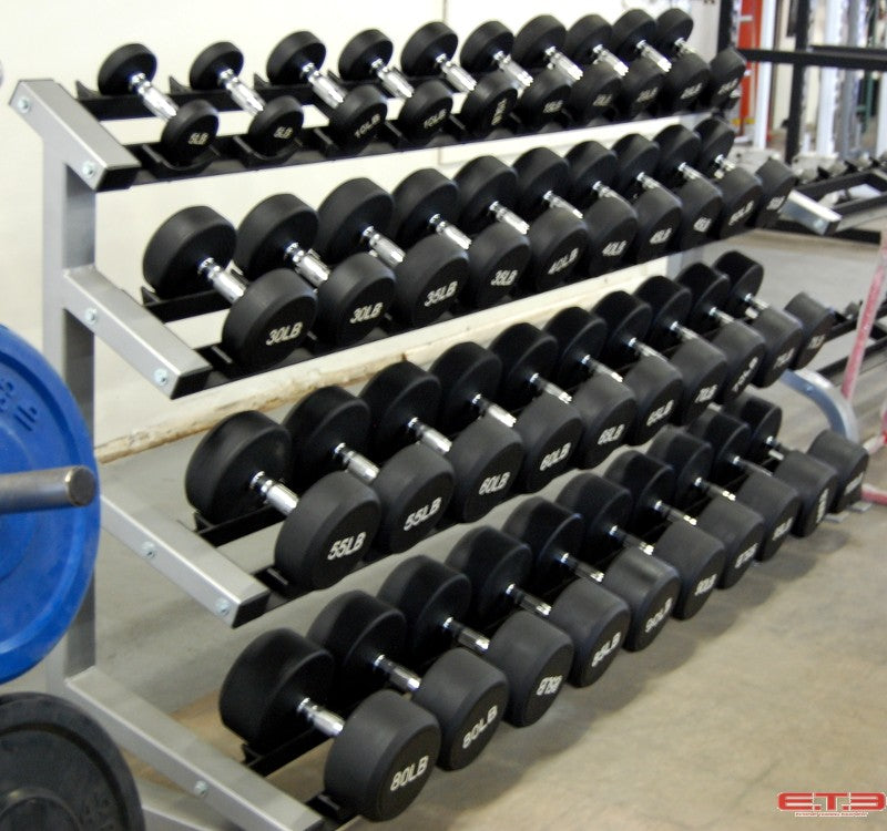Dumbbell Rack with Saddles for Round Dumbbells