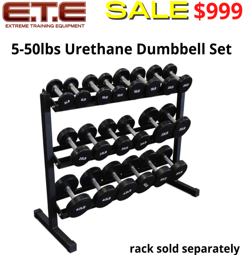5-50lbs Urethane Dumbbell Set