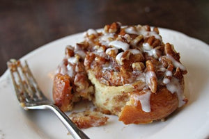 Sticky Pecan Cinnamon Buns with Caramel Sauce