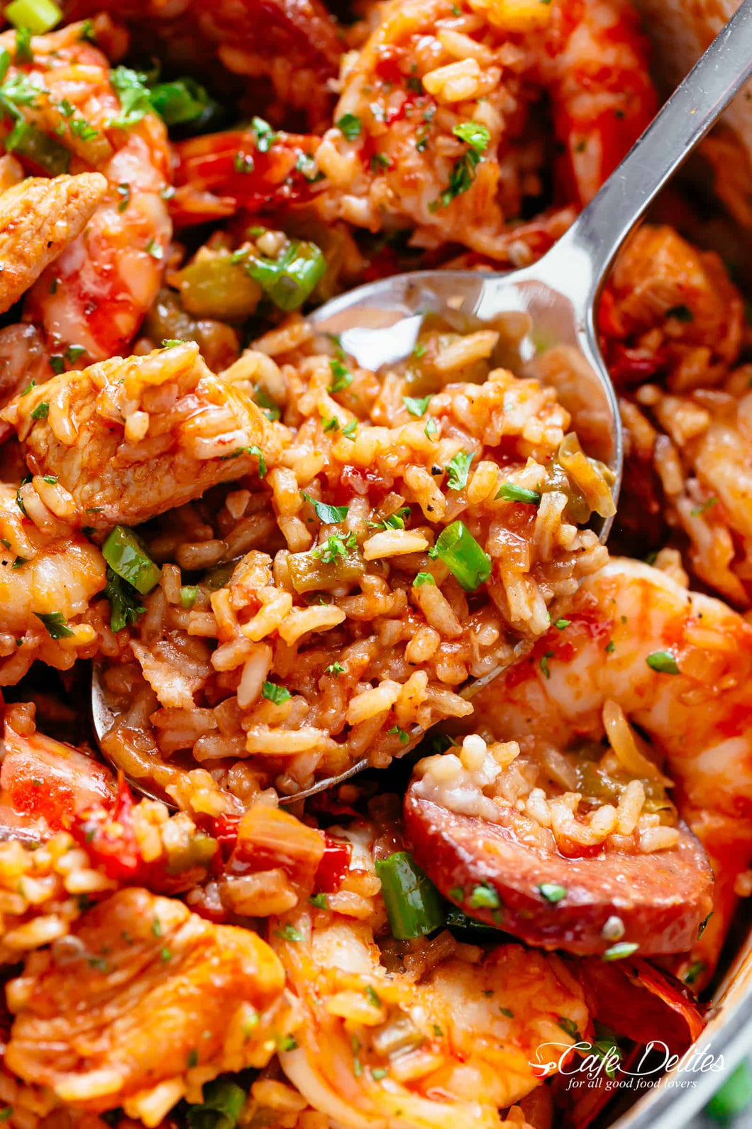 Jambalaya with Chicken, Andouille & Shrimp - Gluten Free