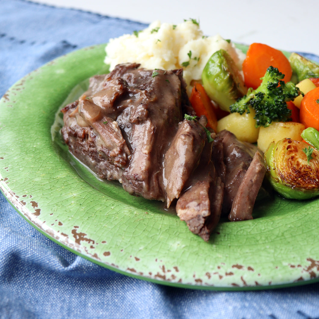 Dinner - Braised Beef Dinner for One-Gluten Free