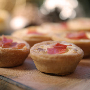 Mini Prosciutto and cheddar cheese quiche