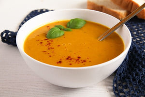 Soup - Curried Yam and Coconut Soup - Gluten Free