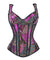 Corselet brocado purpura