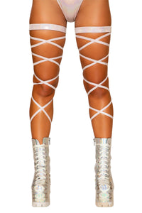 "3671 - 100"" Shimmer Leg Strap with Attached Garter - pink-ritual"
