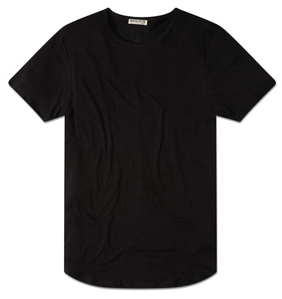 Modern Cotton Bamboo Linen Tee Black