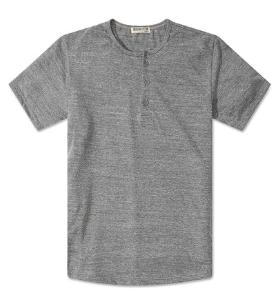 Modern Cototn Tri-blend Henley Heather Grey