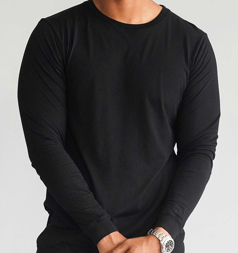 Long Sleeve Crew - Black