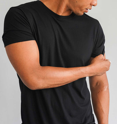 Modern Cotton Supima MicroModal Black Tee