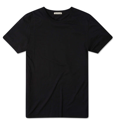 Modern Cotton Supima Micromodal Short Sleeve tee black flat lay