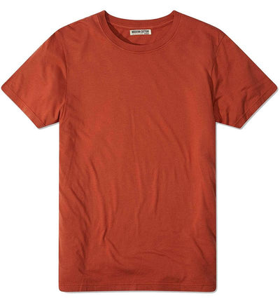Modern Cotton Supima Micromodal Short Sleeve tee baked clay flat lay