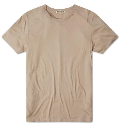 Modern Cotton Supima Micromodal Short Sleeve tee Hummus flat lay