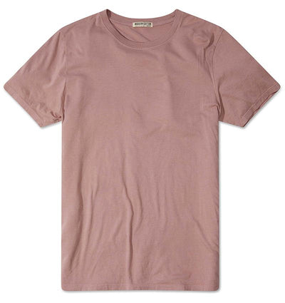 Modern Cotton Supima Micromodal Short Sleeve tee Mauve flat lay