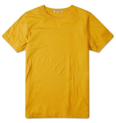 Modern Cotton Supima Micromodal Short Sleeve tee Mustard flat lay