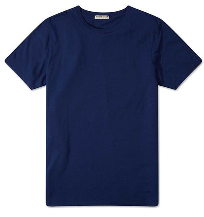 Modern Cotton Supima Micromodal Short Sleeve tee Navy flat lay