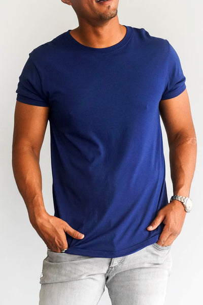 Modern Cotton Supima MicroModal Navy Tee