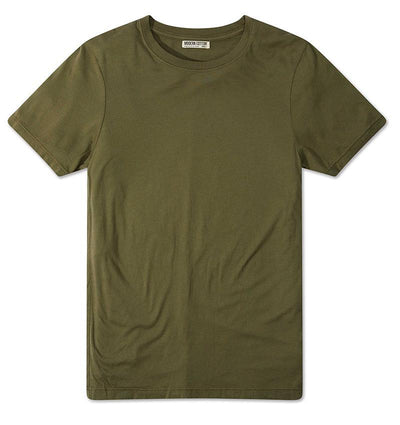 Modern Cotton Supima Micromodal Short Sleeve tee Olive flat lay