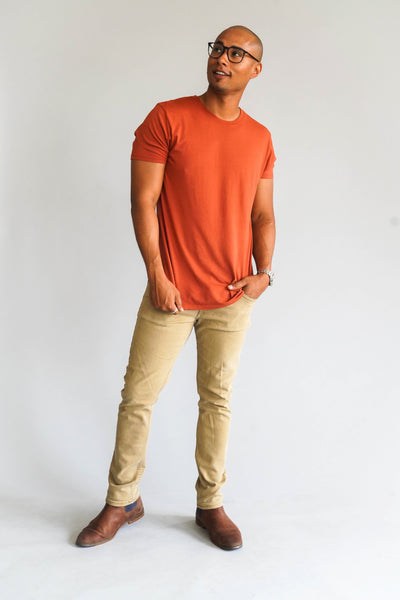 Modern Cotton Supima MicroModal baked clay Tee