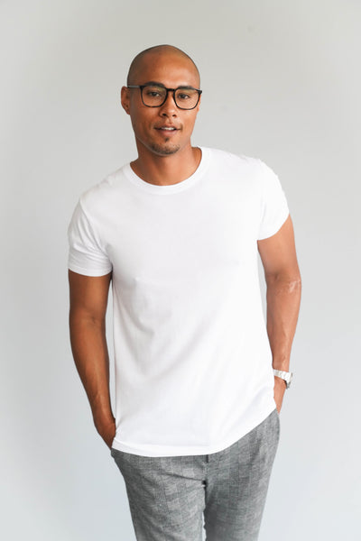 Modern Cotton Supima MicroModal White Tee