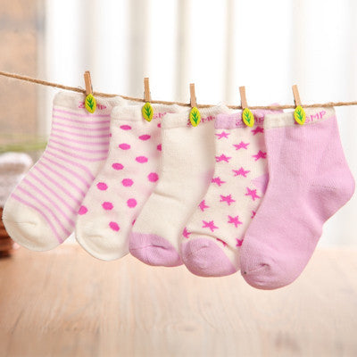 5 Pair Cotton Baby Socks