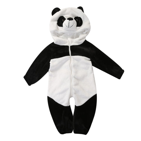 Hooded Panda Jumpsuit Coat