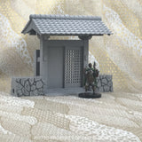Samurai Stone Walls Full Entry Gateway Set Asian Themed Terrain