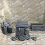 Samurai Stone Walls Full Wall & Gate Set Asian Themed Terrain