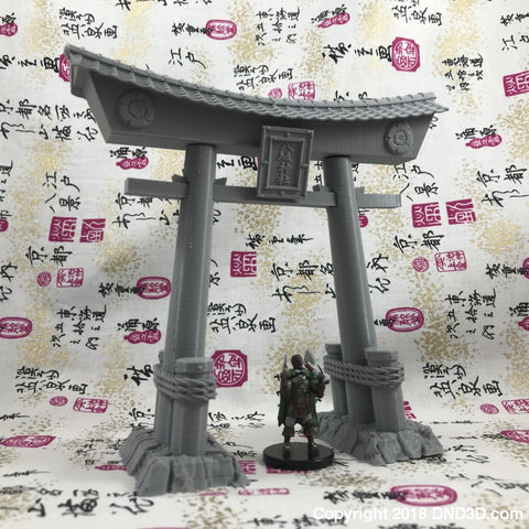 Torii Gate - Large Wood Asian Themed Tiles