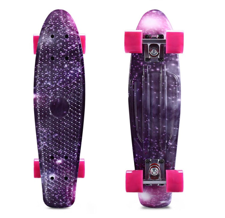 Intergalactic Purple Mini-Cruiser Skateboard