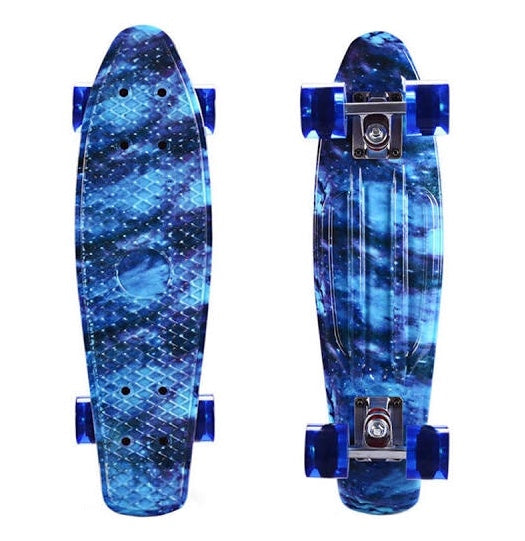 Galaxy Blue Mini-Cruiser Skateboard