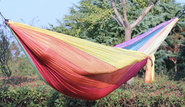 The Amazing Rainbow Double Parachute Hammock