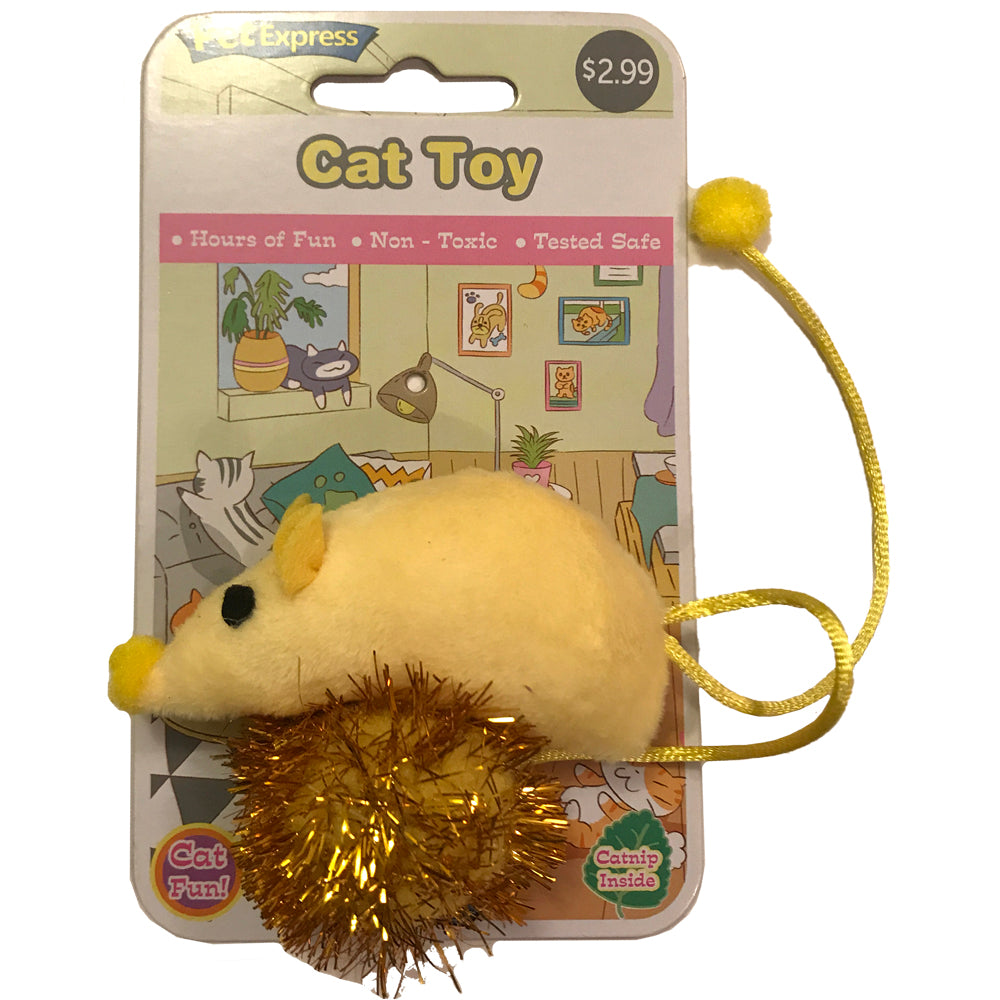 Catnip Mouse Yellow