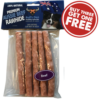 Organic & Natural Digestible Rawhide Crunchy Sticks Beef