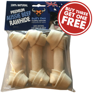 Organic & Natural Rawhide Knotted Bones 4""