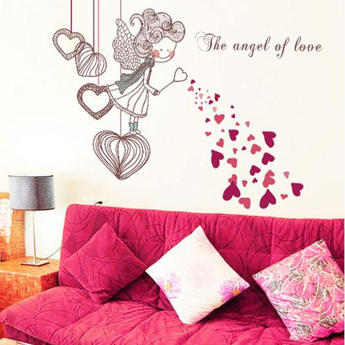[Saturday Monopoly] The Angel Of Love Wall Stickers For Kids Rooms Bedroom  Decoration Child ...