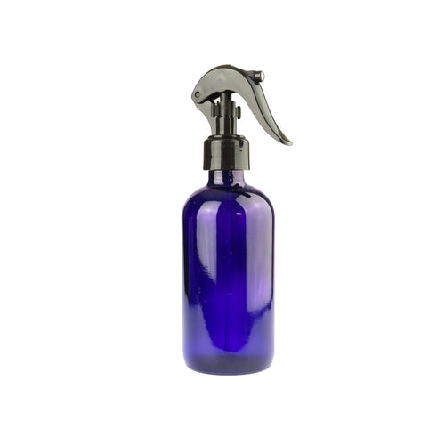 125ml BLUE Glass Bottle with Black Spray Trigger (Single Item)