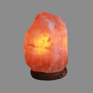 Himalayan Salt Lamp 1.5 - 2Kg UK safety Plug. Inline on/off switch. Bulb