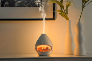 GLO Pink Himalayan Salt combo Ultrasonic Aroma Diffuser with lighting - 7hr running time