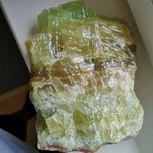 Massive GREEN CALCITE crystal display 2.74Kg