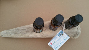 3 Hole Driftwood essential oil stand, dried, scrubbed, cleaned and prepared