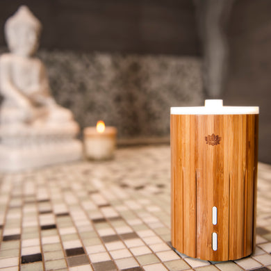 ESTA Ultrasonic Aroma Diffuser in Natural Sustainable Bamboo 10% OFF NEALS YARD